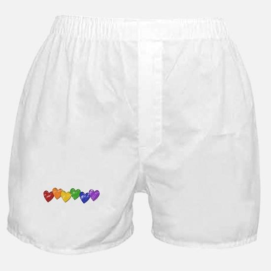 Vintage Gay Pride Hearts Boxer Shorts