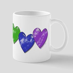 Vintage Gay Pride Hearts Mug
