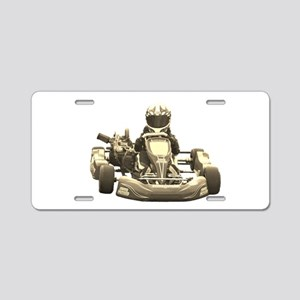 Go Kart Antiqued Aluminum License Plate