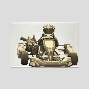 Go Kart Antiqued Magnets