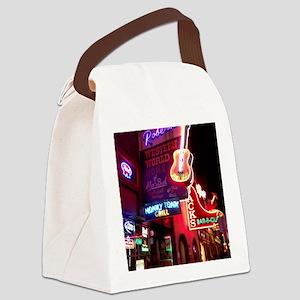 Downtown Nashville Canvas Lunch Bag