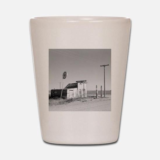 Abandoned Texaco Station Shot Glass