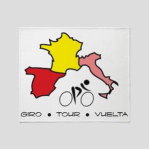 Grand Tour Maps Throw Blanket