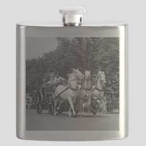 Fire Department Horses Flask