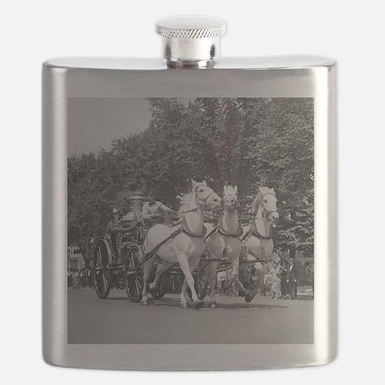 Fire Department Horses Flask