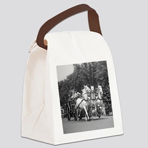 Fire Department Horses Canvas Lunch Bag
