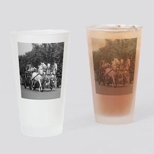 Fire Department Horses Drinking Glass