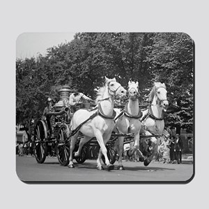 Fire Department Horses Mousepad