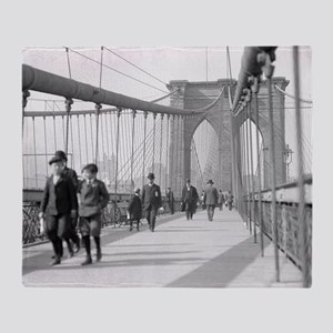 Brooklyn Bridge Pedestrians Throw Blanket