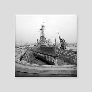"Brooklyn Navy Yard Dry Dock Square Sticker 3"" x 3"""