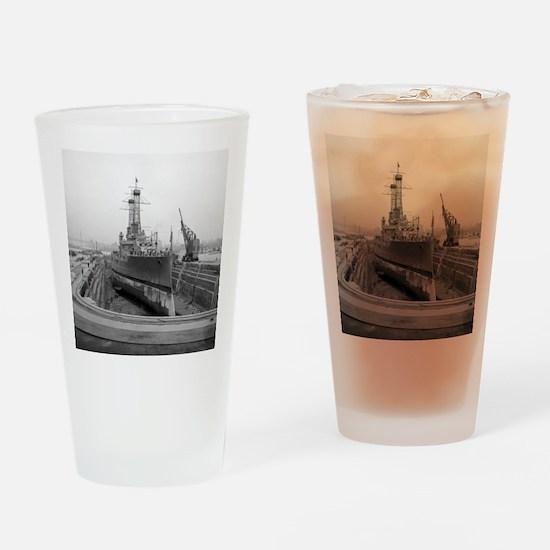 Brooklyn Navy Yard Dry Dock Drinking Glass