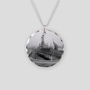 Brooklyn Navy Yard Dry Dock Necklace Circle Charm