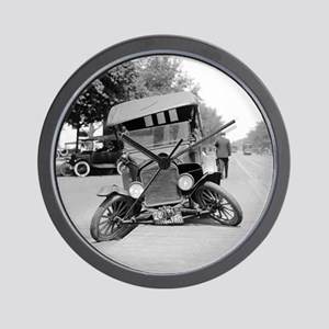 Crashed Ford Model T Wall Clock
