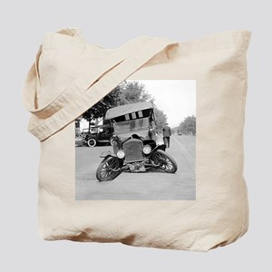 Crashed Ford Model T Tote Bag