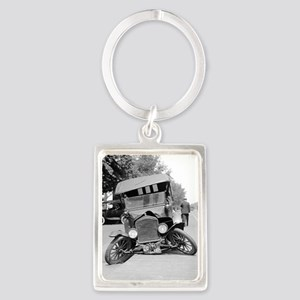Crashed Ford Model T Portrait Keychain