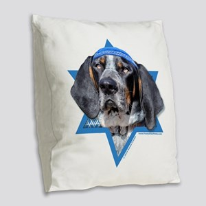 Hanukkah Star of David - Coonhound Burlap Throw Pi