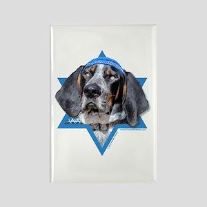 Hanukkah Star of David - Coonhound Rectangle Magne