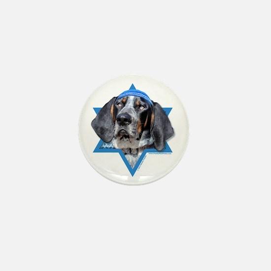Hanukkah Star of David - Coonhound Mini Button