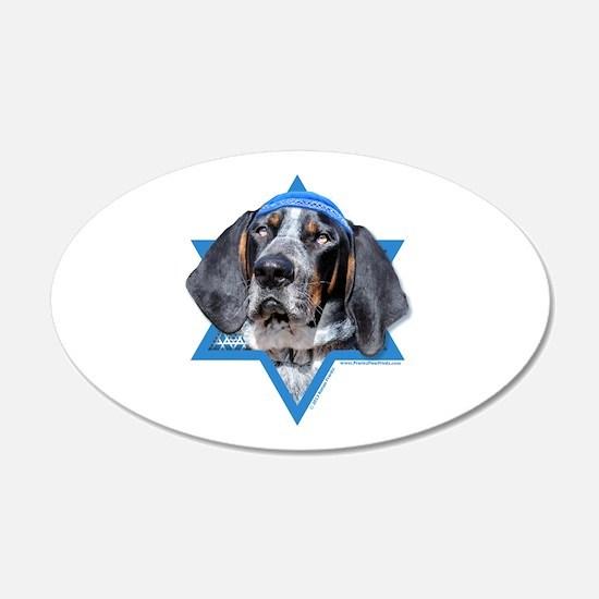Hanukkah Star of David - Coonhound Wall Decal