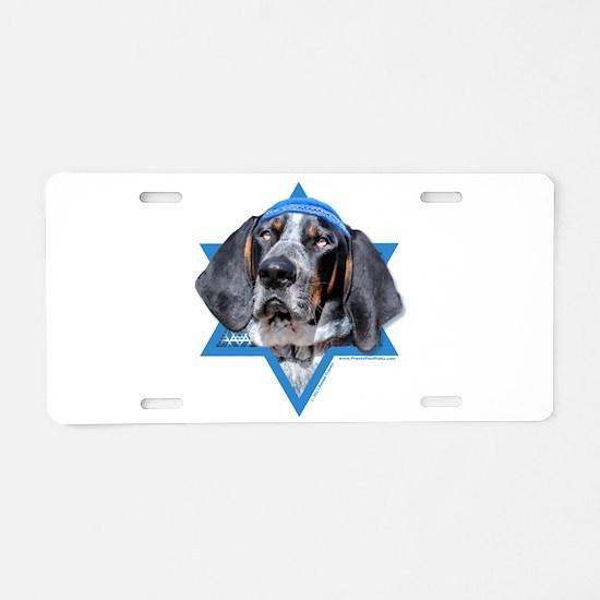 Hanukkah Star of David - Coonhound Aluminum Licens