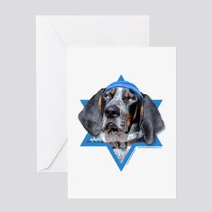 Hanukkah Star of David - Coonhound Greeting Card