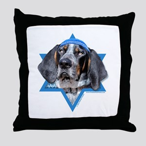 Hanukkah Star of David - Coonhound Throw Pillow