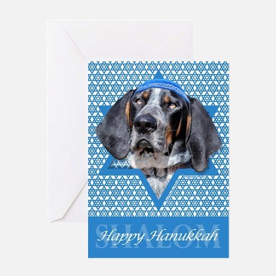 Hanukkah Star of David - Coonhound Greeting Card
