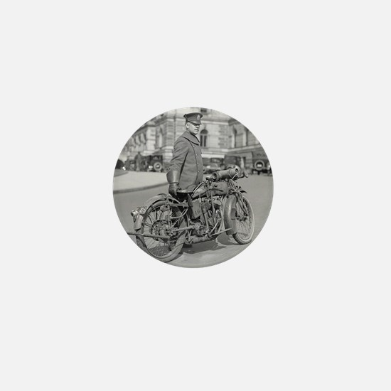 Motorcycle Police Officer Mini Button