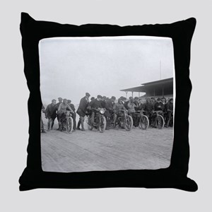 Motorcycle Races Throw Pillow