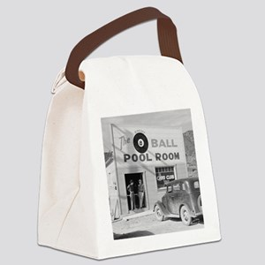 The Eight Ball Pool Room Canvas Lunch Bag