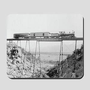 Train Crossing High Bridge Mousepad