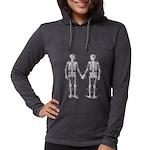 Skeletons Womens Hooded Shirt