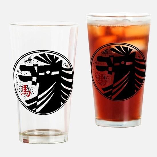 horseA73light Drinking Glass