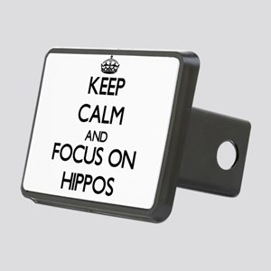 Keep calm and focus on Hippos Hitch Cover