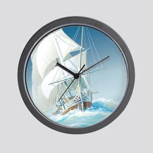 Sailing Ship Wall Clock
