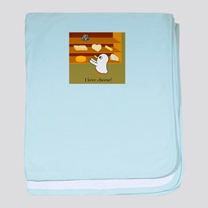 I love cheese! baby blanket