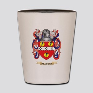 Peacock Coat of Arms (Family Crest) Shot Glass