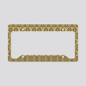 Elegant Vintage Gold License Plate Holder