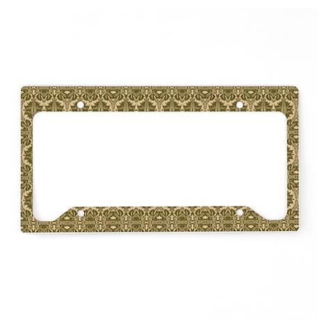 Elegant Vintage Gold License Plate Holder