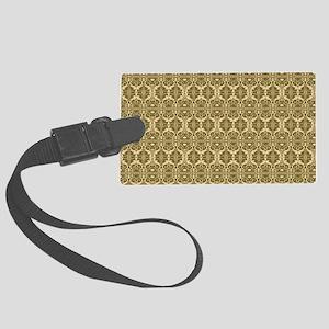 Elegant Vintage Gold Large Luggage Tag