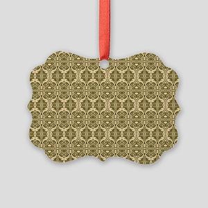 Elegant Vintage Gold Picture Ornament
