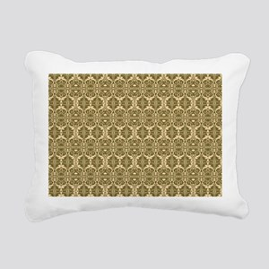 Elegant Vintage Gold Rectangular Canvas Pillow