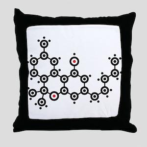 THC molecule Throw Pillow