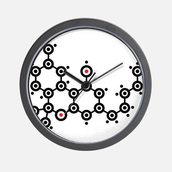 THC molecule Wall Clock