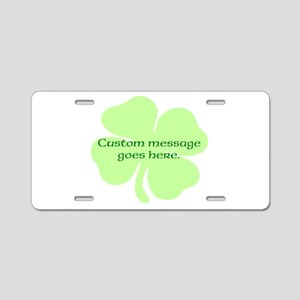 Custom Saint Patricks Day Design Aluminum License