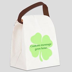 Custom Saint Patricks Day Design Canvas Lunch Bag