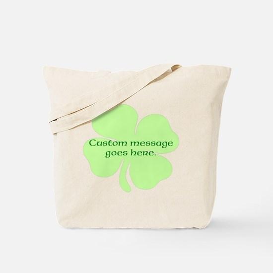 Custom Saint Patricks Day Design Tote Bag