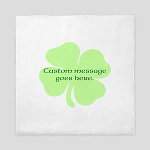 Custom Saint Patricks Day Design Queen Duvet