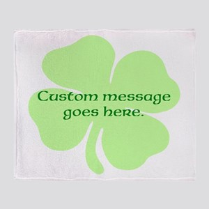 Custom Saint Patricks Day Design Throw Blanket