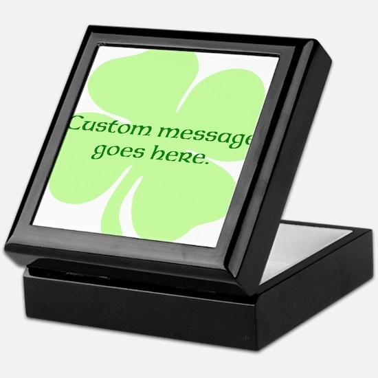 Custom Saint Patricks Day Design Keepsake Box